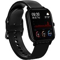 BINDEN Smartwatch P8 Oxímetro, Ritmo Cardíaco, Pantalla Touch Completa MultiDeportes iOS/Android, Negro