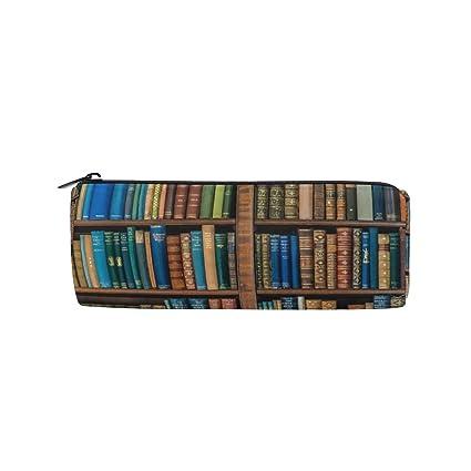 IMOBABY Bookcase Bookshelf School Library Beautiful Mermaid Pencil Case Pen Bag Multi Functional Stationery
