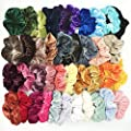 Hair Scrunchies Velvet Elastic Hair Bands Scrunchy Hair Ties Ropes Scrunchie for Women or Girls Hair Accessories - Assorted Colors