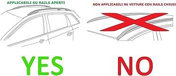 Barre PORTATUTTO Portapacchi Sherman XL per Nissan Qashqai//DUALIS dal 2006 al 2014 con Railing J10 CORRIMANO Tradizionali Aperti