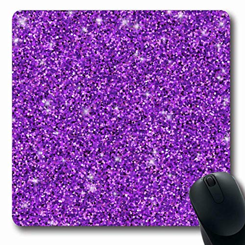 (Ahawoso Mousepad Oblong 7.9x9.8 Inches Sequin Pink Purple Vintage Violet Pattern Shimmer Shine Design Office Computer Laptop Notebook Mouse Pad,Non-Slip Rubber)