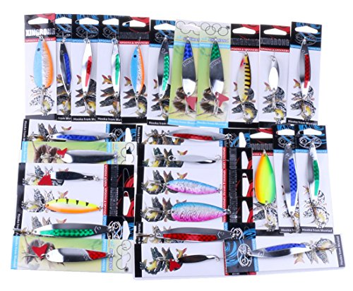 - SHJNHAN Details About Fishing Lures Metal Spinner Baits Crankbait Assorted Fish Tackle (Multicolor)