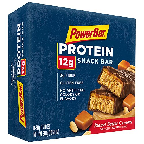 PowerBar Protein Snack Bar, Peanut Butter Caramel, 6 Count