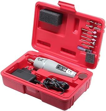 DIY caja de herramientas de perforación de mano/lijadora/mini cortador/máquina pulidora adecuado para el grabado, molienda, perforación, corte de sección: Amazon.es: Bricolaje y herramientas