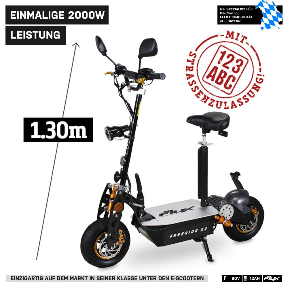 Scooter eléctrico original E-Flux Freeride X2, 2000 W, 60 V, con ...