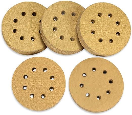 100 pcs Klett disques abrasifs /ø 125mm grains 120 pour ponceuse excentrique 8 trous
