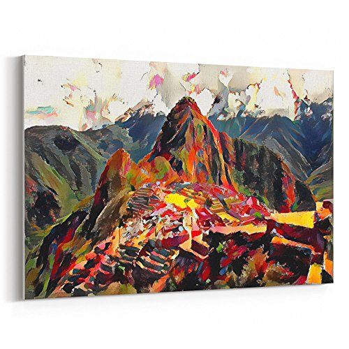 Westlake Art - Canvas Print Wall Art - Machu Picchu on Canvas Stretched Gallery Wrap. Ready to Hang - 18x12 inch ( fe619 - Highland Stores Village