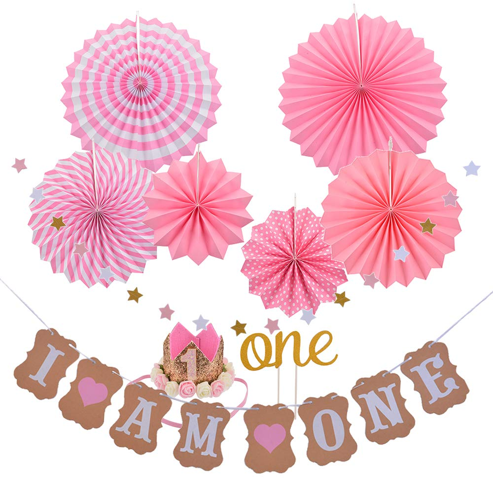 Godagoda I AM ONE Banner Baby Birthday Party Decoration - 1Set
