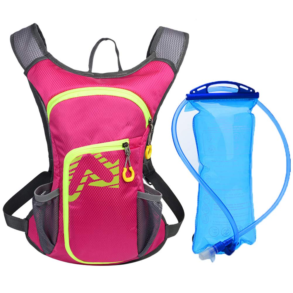 Cycle Backpack, MTB Backpack Lightweight,Waterproof Hydration Cycling Rucksack,Reflective Stripe Backpack(Pink)