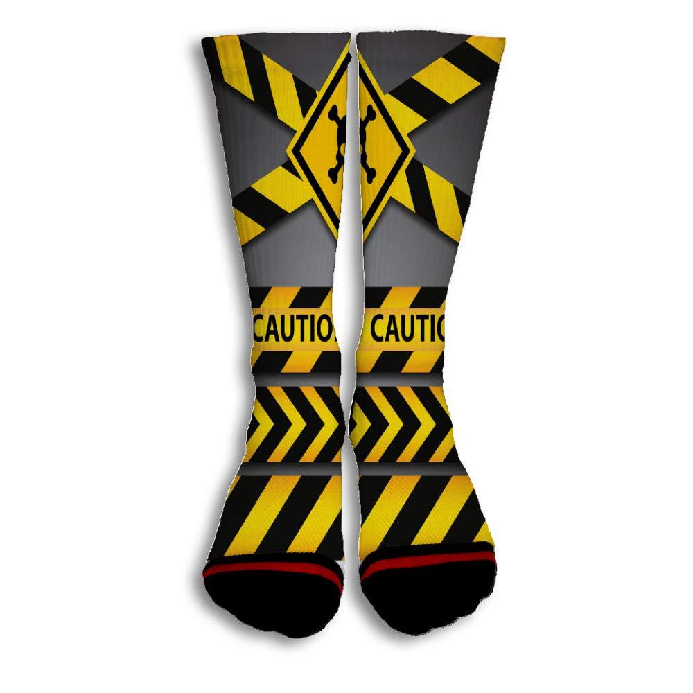Police Line And Danger Tapes Popular Fashion Custom Creative Sport 3D Printed Crew Socks