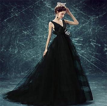 Elegence Z Vestido De Boda Negro Elegante Cuello En V