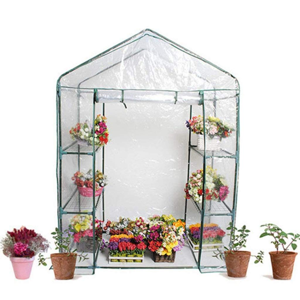 A ZCCWS Compact walkin greenhouse for planting a covered house (color   B)