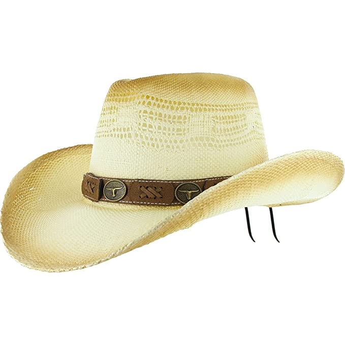 b60436df9eec3 DealStock COWBOY Shapeable Western Mens Womens STRAW HAT Rodeo Farm Summer  Cap