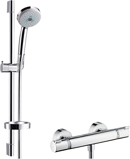 Hansgrohe 27086000 Croma 100 Multi Set de ducha con termostato y ...