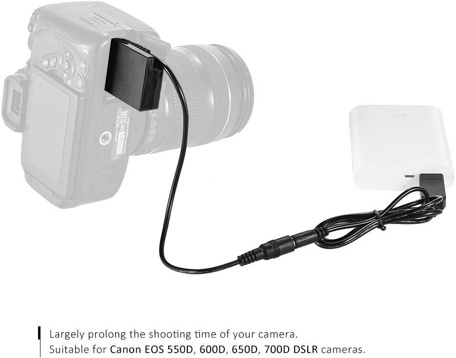 Andoer DR-E8 Batería Ficticia con DC Banco de Alimentación USB ...
