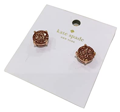 f2cd319d92e39 Kate Spade New York Rose Gold Glitter Stud Earrings O0RU1624: Amazon ...