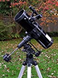"AstroVenture 4.5"" Reflector Telescope With Universal Smartphone Camera Adapter (Black)"