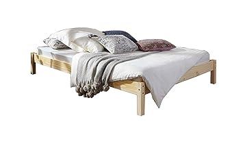 SAM Futonbett 140x200 cm Sina, Gästebett, massives Bett aus Kiefer ...