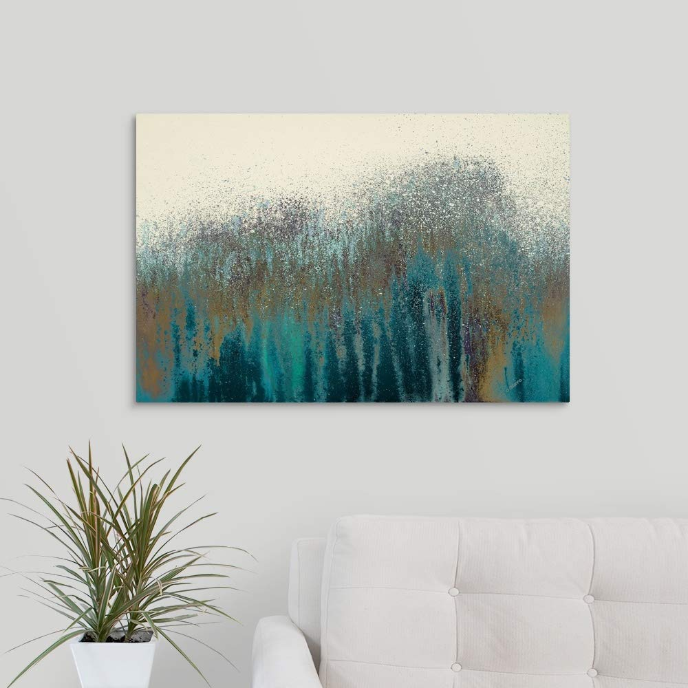 Teal Woods Canvas Wall Art Print, 30 x20 x1.25