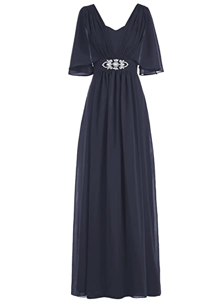 bbonlinedress - Vestido - trapecio - para mujer azul marino (48W) EU