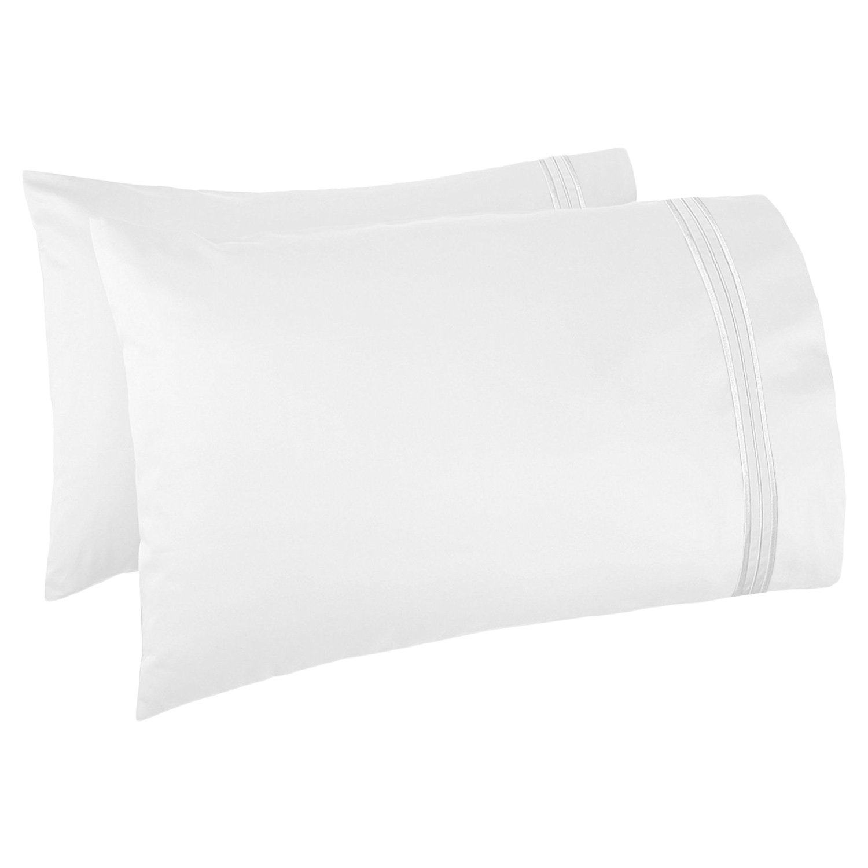 Nestl Bedding Set of 2 Premium Pillowcases – Luxury Super Soft 100% Double Brushed Microfiber, Hypoallergenic & Breathable Design, Soft & Comfortable Hotel Luxury – King - White