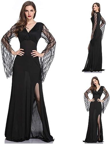 99AMZ Mujeres Deshuesado Corsé Gótico Halloween Vestido Clubwear ...
