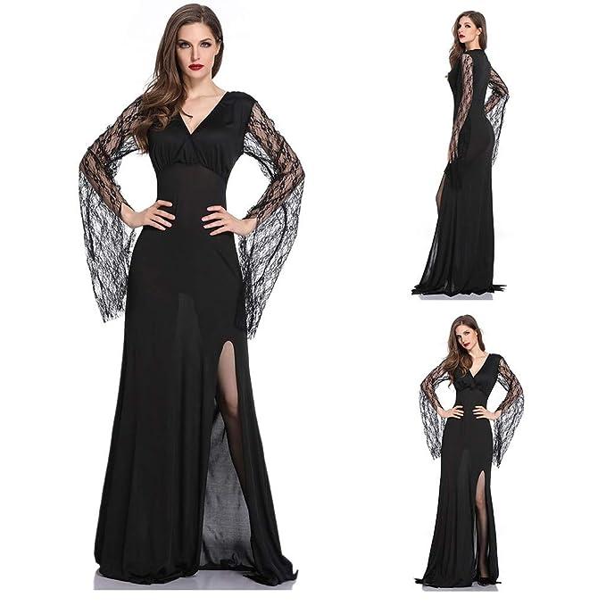99AMZ Mujeres Deshuesado Corsé Gótico Halloween Vestido ...