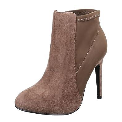2f43622740e172 Damen Stiefelette/High Heels/Elegante Damenschuhe/Halbhohe Stiefel/Ankle  Boots/Khaki