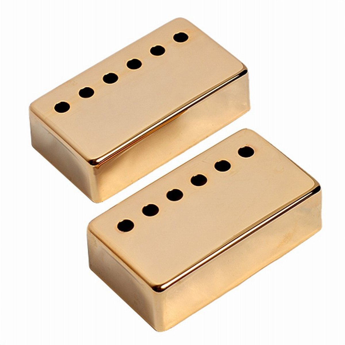 Musiclily 52mm Metal Humbucker Double Coil Pickup Cover for Electric Guitar, Black (Pack of 2) MX0648BK-2