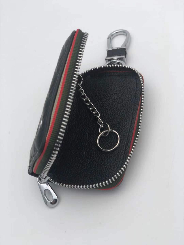 Black DEFTEN The New Lexus Premium Leather Car Key Chain Coin Holder Zipper Case Remote Wallet Bag for ES NX RX LX LS CT is GS UX LC RC is Suitable for All Lexus Models