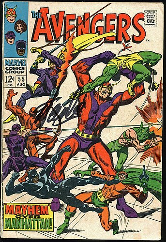 Stan Lee Signed The Avengers #55 Comic Book - Certified G...