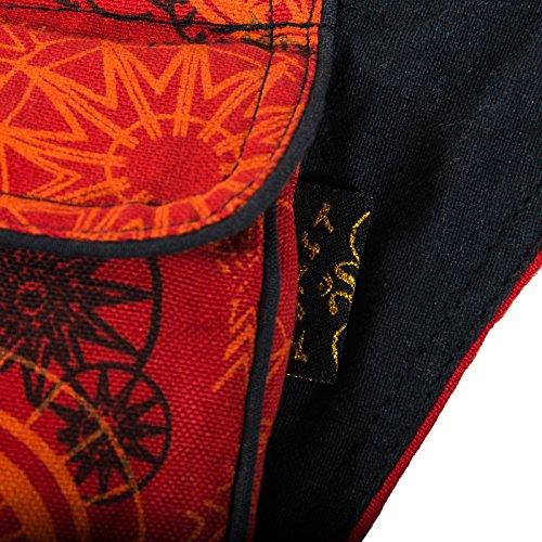 Al Arancione Del X Da Bolso Rojo Ca Cm Spalla Kunst Di De Para Naranja 14 Donna Algodón Hombro Mujer Rosso 3 In Und Sacchetto Cotone Magie Ctvnw4q