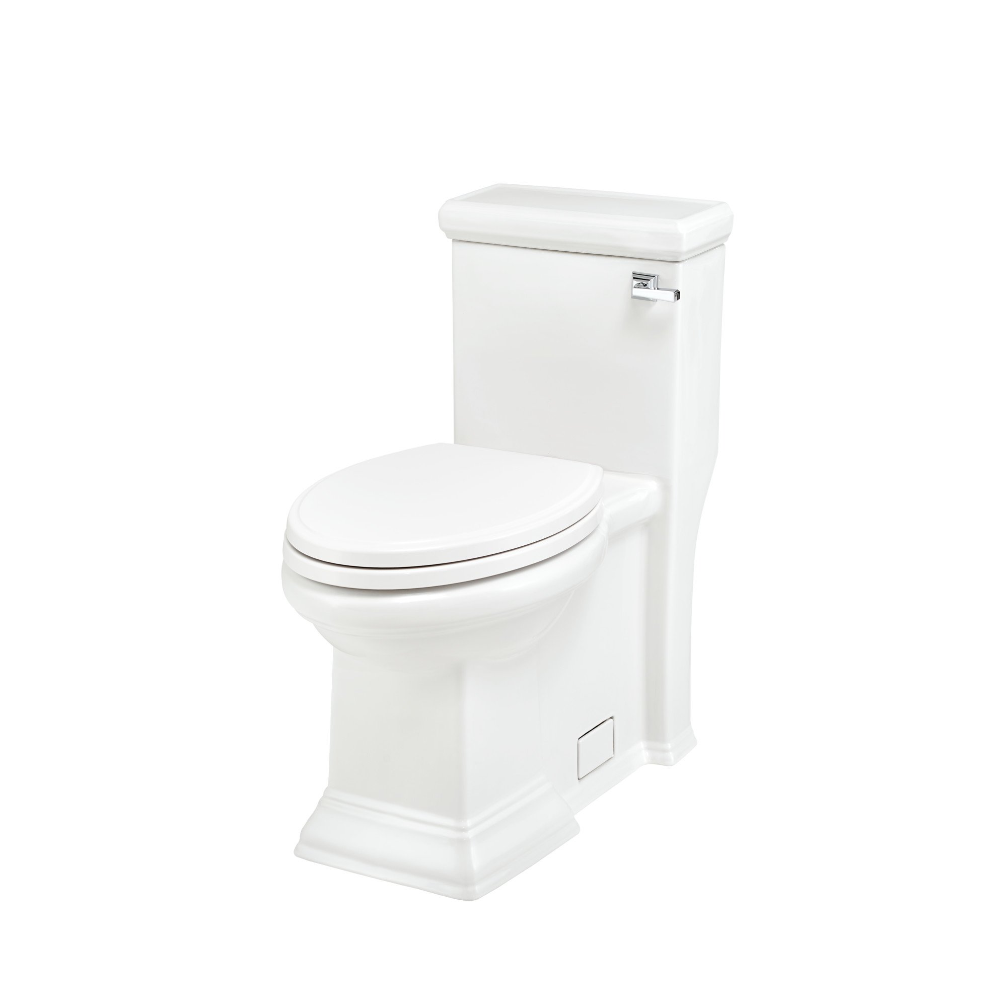 American Standard 2847813.020 Town Square Right Height Elongated One-Piece Toilet with Seat, White