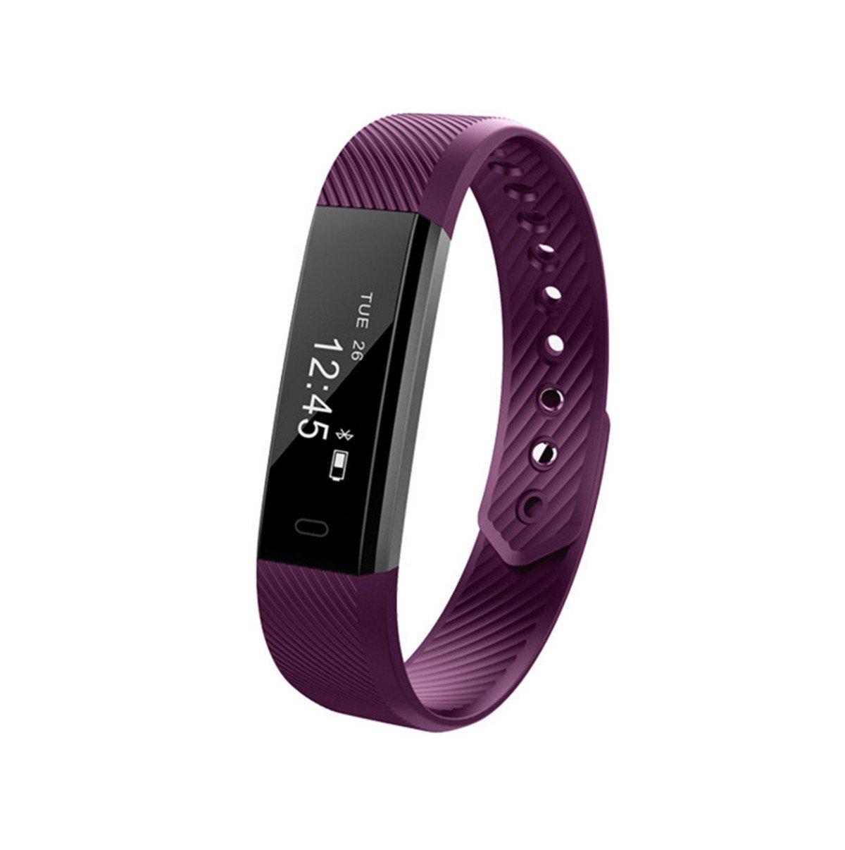 JLH Smart Bracelet Smart Watch Heart rate monitoring Motion detection fitness tracker Multi-functional high-techs (purple)