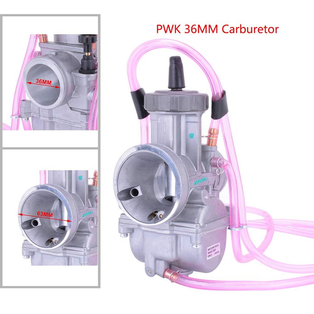 Moto PWK36 36 36 mm PWK carburatore Universale Power Jet carburatore per Honda Suzuki Yamaha EXC Kawasaki ATV UTV Scooter Dirt Bike Quad