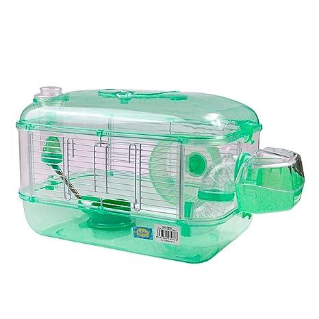 DZL Jaula para Hamster de plástico Duro, caseta Bebedero comedero ...