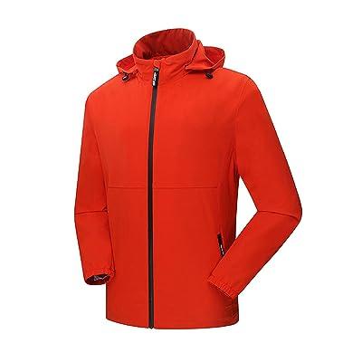 BUAAM Men's/Women's Outdoor Soft Shell Windbreaker Rain Jackets Lightweight