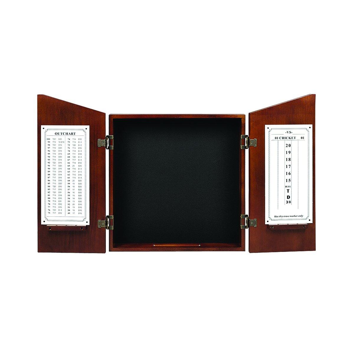 RAM Gameroom Dartboard Cabinet - Chestnut