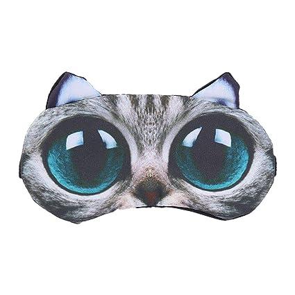 Healifty Máscara de Hielo Gel de Ojos 3D en Forma de Gato para Viaje y Oficina
