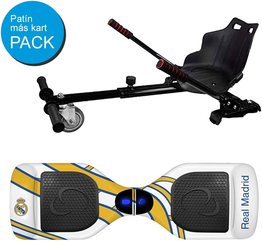 SMARTGYRO X2 Real Madrid + GO Pack Patinete Eléctrico + Kart ...