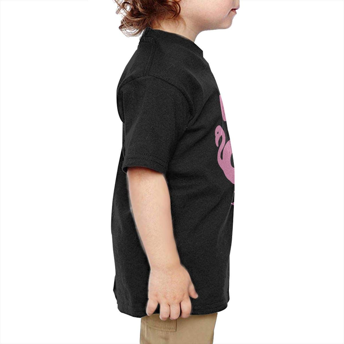 Chunmmmmm Let S Go Flamingos Baby Toddler Short Sleeve Round Neck Cotton Tee