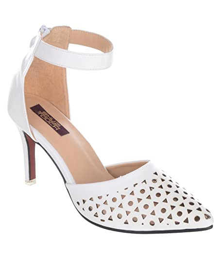 4da25a4aba04 Shuz Touch White Sandal  Buy Online at Low Prices in India - Amazon.in