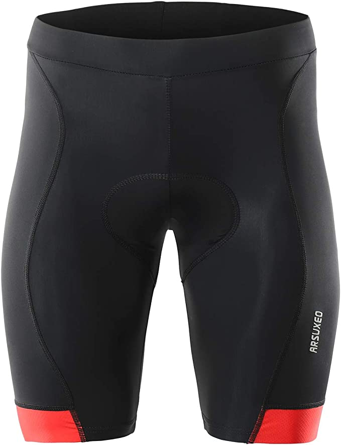 ARSUXEO Men's 3D Padded Cycling Shorts MTB Bike Bicycle Compression Shorts 563