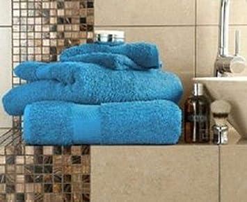 Deluxe Beddings Juego de Toallas de baño de algodón Egipcio de 700 g/m², 17 Colores, algodón egípcio, Peacock, 4 Hand Towel: Amazon.es: Hogar