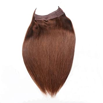 Remeehi 15quot 24quot Straight Invisible Halo Wire Human Hair Extensions One