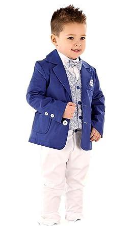 rivenditore all'ingrosso eb01b 90424 LULINA Abito da Battesimo Elegante Color Blu-Bianco, Vestito da Cerimonia  5pz.