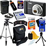 Sony Cyber-shot DSC-W800 20.1 MP Digital Camera with 5x Zoom & Full HD 720p Video, Black (International Version) + NP-BN1 Battery & AC/DC Charger + 9pc 32GB Deluxe Accessory Kit w/HeroFiber Cloth