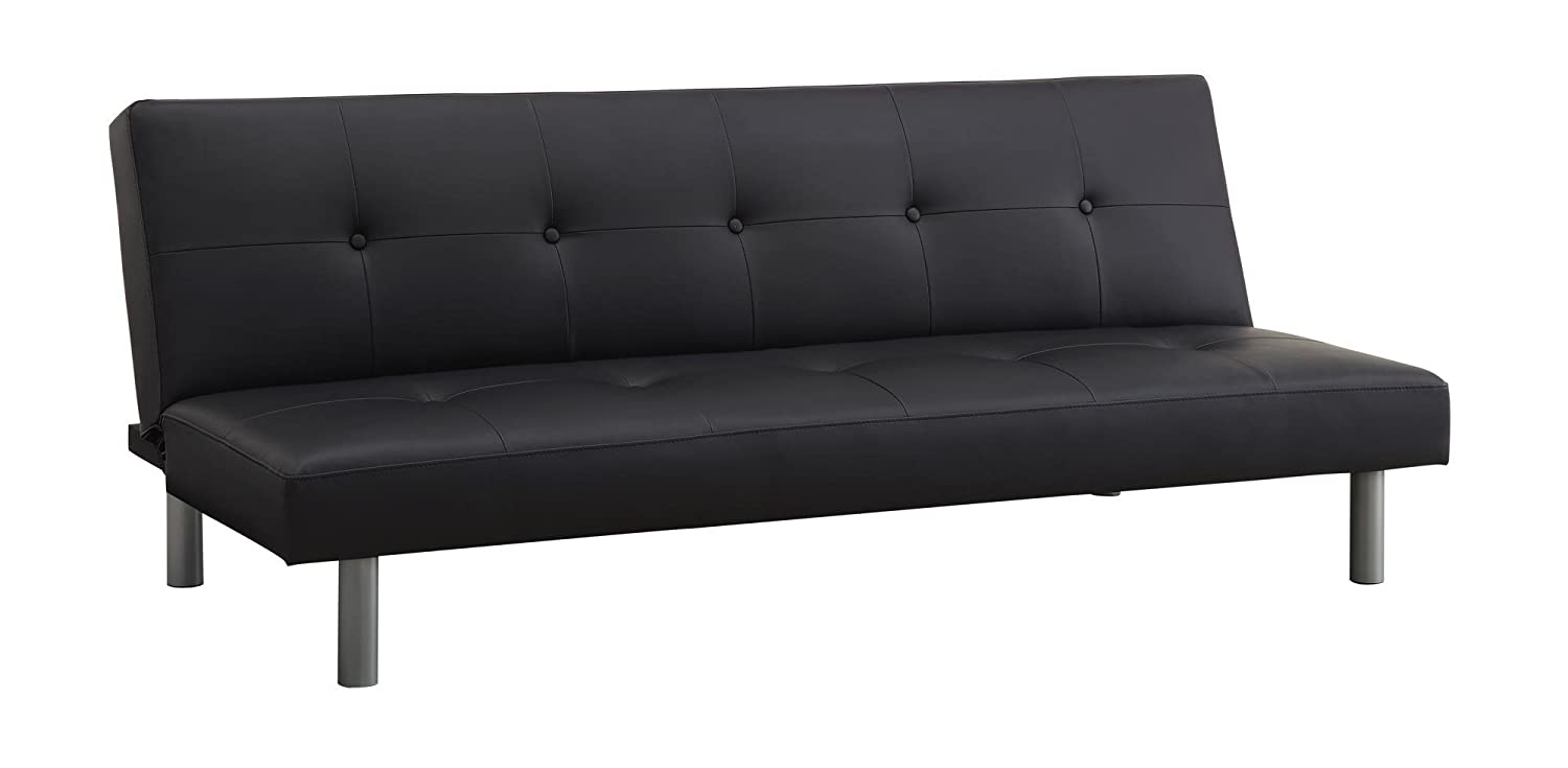Black Leather Futon