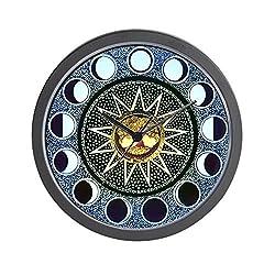 CafePress-Moon Phases Mandala-Wall Clock