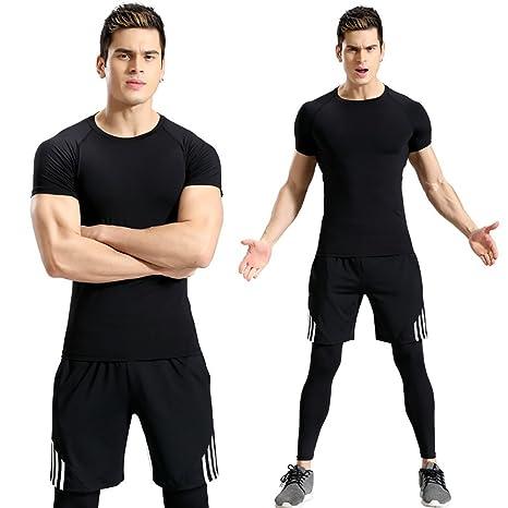 8d7ba9475939 Allenamento da Palestra per Uomo Abbigliamento Sportivo da Fitness  Allenamento Fisico Atletico Abbigliamento Abiti Corsa Jogging